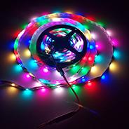 Magic Dream couleur ruban Magic programmable IC construit en DC 5V Pixel bande numérique lumière SMD 5050 Strip Light LED RVB
