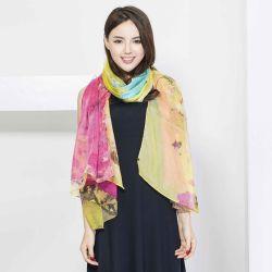 Damen arbeiten der 100% Seide kundenspezifischen Digital-Drucken-Schal um