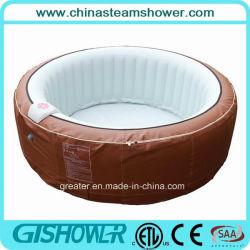 Vasca gonfiabile della STAZIONE TERMALE del mulinello della famiglia (Grey pH050010/Brown)