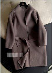 Manier van het Type van Cocon van de Overjas van het Kasjmier van de Wol van de nieuwe Vrouwen van de Manier past de Tweezijdige Dame Coat Retail, Levering voor doorverkoop & aan