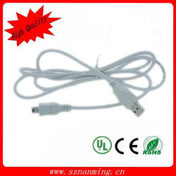 Cable USB de 5 pines mini B a un cable USB 2.0 MP3 MP4 Cámara