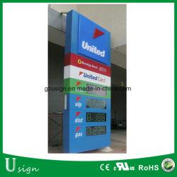 LED-Preis-Vorstand-Aluminiumrahmen-Benzin-Standplatzsignage-Träger-Zeichen