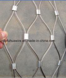Volière oiseau en acier inoxydable à mailles de filets à mailles de corde de fils