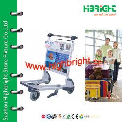 Carro de equipajes del aeropuerto de acero inoxidable para el aeropuerto