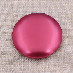 Ronda de alumínio metálico mais barato makeup/Compact/Pocket /espelho de maquilhagem com o logotipo personalizado