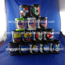 Drapeau du pays chaud ou froid en PVC de conception de boire du café tasse tasse