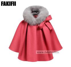 2021 nuovo vestito del bambino del cappotto delle lane delle ragazze del mantello di usura dei capretti dell'abito dei bambini del commercio all'ingrosso di inverno di disegno