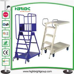 Het Karretje van de Vrachtwagen van de Ladder van de Stap van het Platform van de supermarkt