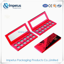 Der Verkäufer-hohe pigmentierte wasserdichte Pappe12 für kosmetisches Geschenk-verpackenkasten bilden Farben-Augenschminke-Palette