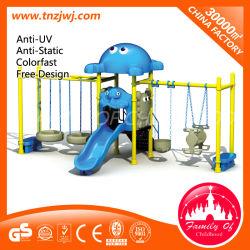 Детский сад на открытом воздухе металлического поворотного механизма поворота с помощью наборов слайдов