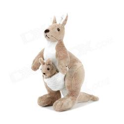 Bambola grigio-chiaro 30cm del canguro del giocattolo farcita peluche molle