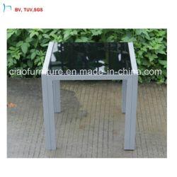 C-Foshan تصميم جديد طاولة خارجية مع زجاج اللوحة السوداء