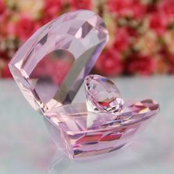 결혼 선물용 핑크 러브 크리스탈과 다이아몬드 선물