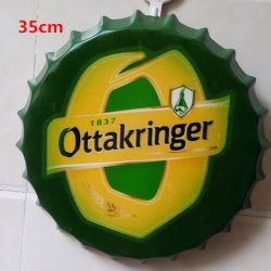 Metallzeichen-Flaschenkapsel-dekorative Fertigkeit des Durchmesser-35cm für Wand