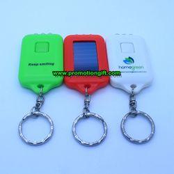 Мини-поощрения светодиодный индикатор солнечной цепочки ключей