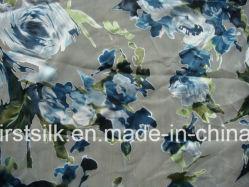Viscose seda queimar com tecido de veludo de impressão