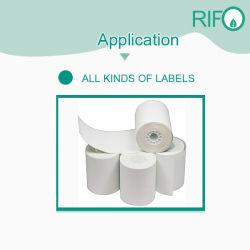 Papel sintético de alta rigidez Pearl para depósito de gasolina Material etiquetas