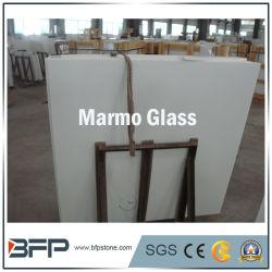 Vetro Nano di pietra artificiale bianco, mattonelle di vetro delle lastre di Marmo
