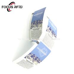 13.56MHz切符のためのペーパーRFIDチップカードのMifa S50の紙カード