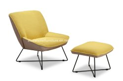 Tejido de estilo ocio moderno sillón reclinable silla de salón con las heces