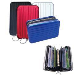 Raccoglitore della protezione della carta di credito di affari del raccoglitore RFID della carta di credito di figura RFID dei bagagli con l'anello