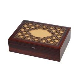 Haute qualité en bois de couleur brun chocolat/boîte cadeau