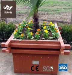 خشب مستطيلة بلاستيك مركّب زهرة وعاء حديقة