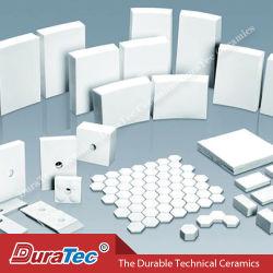 Excelente resistência ao desgaste de 92% de alumina Hexagone mosaico cerâmico de ladrilhos de cerâmica de alumina