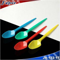 Jx122 カラフルプラスチックティースプーンアイスクリームスプーン 1.6g 125mm