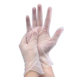 Alta qualidade transparente protetora descartáveis baratos luvas de PVC
