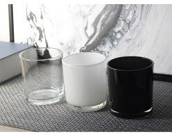 卸し売りガラス製品の蝋燭ホールダー17のOzのガラス蝋燭の瓶のガラスガラスビンの製陶術