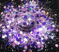 Forma de mezcla de suministro de alta hexagonal Flash Glitter para Cosmética y artesanía