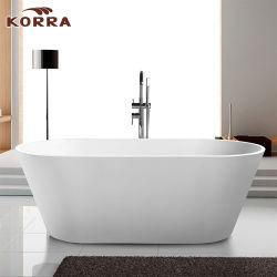 Promo Cupc Baignoire sur pied un trempage baignoire acrylique blanc / noir K1577/K1577b