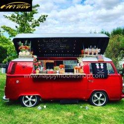De klassieke Vrachtwagen van het Voedsel van de Kiosk van de Caravan van de Verkoop van de Aanhangwagen van de Dranken van het Sap van de Thee van de Melk van de Koffie van de Straat Kar batterij-Gedreven Mobiele Elektrische