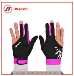 Billiard-Handschuhe drei Finger-Handschuh-Männer und gelassene Frauen-Finger und rechte Abnützung-Billiard-Handschuhe sondern Satz aus