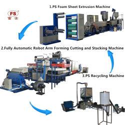 PS de Beschikbare Lijn van de Machine van de Productie van de Doos van het Dienblad van de Plaat van de Containers van het Voedsel van het Storaxschuim van het Schuim Witte