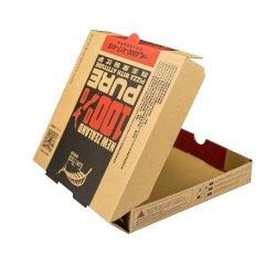 Het in het groot Biologisch afbreekbare Vakje van de Pizza van het Vakje van het Snelle Voedsel van het Document van Kraftpapier