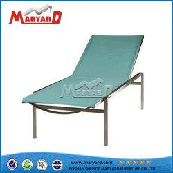 Chaise pliante en métal bleu bain de soleil