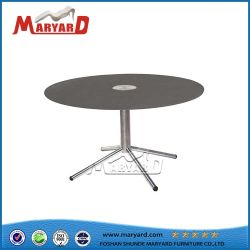 Mesa desmontable de la Pierna de vidrio redonda mesa de café