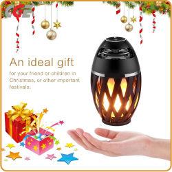 LED de luz LED altavoz portátil Bluetooth&Ambiente linterna de luz cálida de parpadeo vacaciones regalo Caja de altavoz de la luz de luz de Navidad
