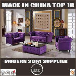 Il tessuto antico del velluto della mobilia del salone ha coperto il sofà
