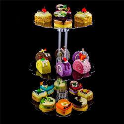 Suporte de monitor de bolo de acrílico titular para casamento ou o Natal