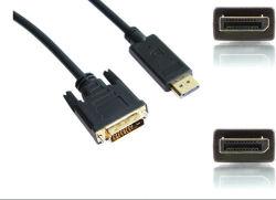 DisplayPort Male - DVI-D Male 케이블 6ft