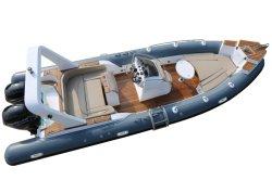 7,6 м/24.9футов из стекловолокна яхт ребра лодки рыболовные лодки надувные лодки катера частоты вращения коленчатого вала двигателя на лодке с маркировкой CE сертификации