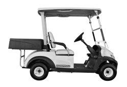 Utilidad de carros de golf, 2 Asientos de carros de golf eléctrico, plástico, la caja de carga
