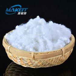 White 15D conjugados hueco de fibras discontinuas de poliéster reciclado relleno de almohadas de fibra de uso