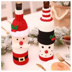 卸し売り祝祭党ギフトサンタクロースのクリスマスの装飾は家のために ノベルティニットワインボトルカバー
