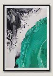 Tela abstracta Verde moderna artesanais pinturas a óleo para a decoração da casa