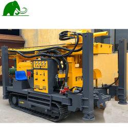 China pequeño portátil giratorio de 180m de profundidad aceite utilizado barreno mina geotécnico de oruga de la plataforma de Perforación pozo de agua con compresor de aire