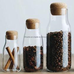 Menaje de cocina de almacenamiento de alta calidad mayorista Tarro 150 ml vidrio botellas de almacenamiento de alimentos